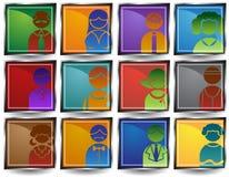 Botones de la gente Fotos de archivo libres de regalías