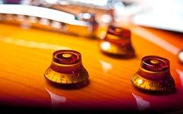 Botones de la guitarra Imagenes de archivo