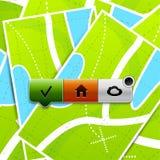 Botones de la localización Fotos de archivo