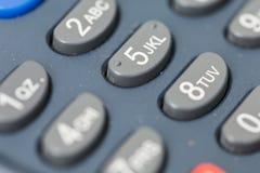Botones de la máquina del pago Imagen de archivo