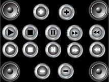 Botones de la música Imagen de archivo