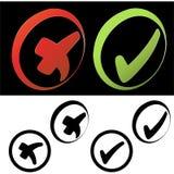 Botones de la marca de verificación Foto de archivo