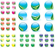 Botones de la naturaleza del vector Imagen de archivo