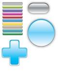 Botones de la navegación del vidrio/gel Fotos de archivo