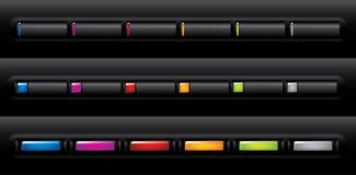 Botones de la navegación del Web site Imágenes de archivo libres de regalías