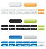 Botones de la navegación del Web site Fotos de archivo libres de regalías