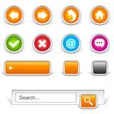 Botones de la navegación del Web site fotos de archivo