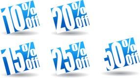 10 a 50 botones de la oferta Imagen de archivo libre de regalías