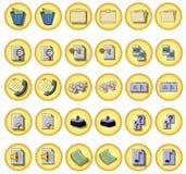Botones de la oficina Foto de archivo libre de regalías