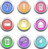 Botones de la oficina Imágenes de archivo libres de regalías