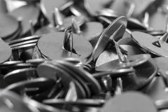 Botones de la oficina del metal imagen de archivo