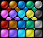 Botones de la perla Fotografía de archivo