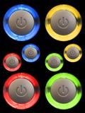 Botones de la potencia Fotografía de archivo libre de regalías
