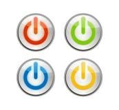 Botones de la potencia Imagenes de archivo