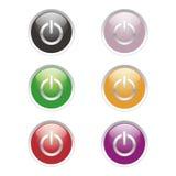 Botones de la potencia Imagen de archivo libre de regalías