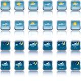 Botones de la previsión metereológica stock de ilustración