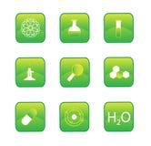 Botones de la química Foto de archivo