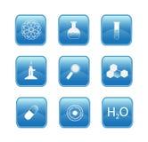 Botones de la química Imagenes de archivo