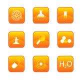 Botones de la química Imagen de archivo libre de regalías