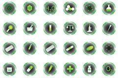 Botones de la química Fotos de archivo