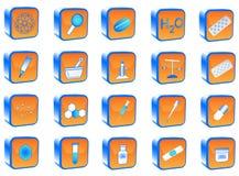 Botones de la química Fotografía de archivo libre de regalías