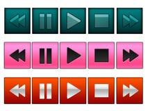 botones de la reproducción Imagenes de archivo