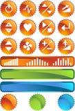Botones de la rueda de ardilla: Conjunto del sello Fotos de archivo libres de regalías
