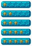 Botones de la tarifa Imágenes de archivo libres de regalías