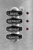 Botones de la tostadora foto de archivo