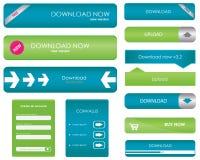 Botones de la transferencia directa Imagen de archivo libre de regalías