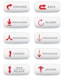 Botones de la transferencia directa Fotos de archivo libres de regalías