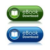 Botones de la transferencia directa de Ebook Foto de archivo libre de regalías