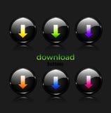 Botones de la transferencia directa del vector Imágenes de archivo libres de regalías