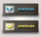 Botones de la transferencia directa del vector Imagenes de archivo
