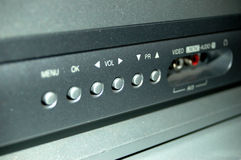 Botones de la TV imágenes de archivo libres de regalías