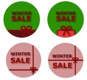 Botones de la venta del invierno Foto de archivo libre de regalías