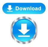Botones de la web de la transferencia directa coloridos en el fondo blanco stock de ilustración