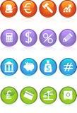 Botones de las actividades bancarias - color 4 ilustración del vector