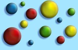 Botones de las bolas imágenes de archivo libres de regalías