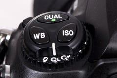 Botones de las cámaras digitales DSLR tres Imagen de archivo