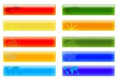 Botones de las cabeceras del vector libre illustration