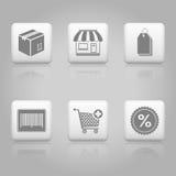 Botones de las compras Imagen de archivo libre de regalías