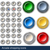 Botones de las compras de la arcada Imágenes de archivo libres de regalías