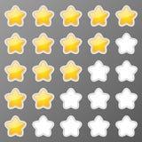 Botones de las estrellas Imagen de archivo libre de regalías