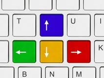 Botones de las flechas en el teclado de ordenador Imagen de archivo libre de regalías