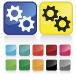 Botones de las ruedas dentadas del Web libre illustration