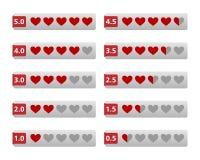 Botones de los corazones del grado Foto de archivo
