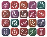 Botones de los deportes Foto de archivo libre de regalías
