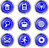 Botones de los iconos Fotografía de archivo