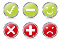 Botones de los iconos de la validación libre illustration